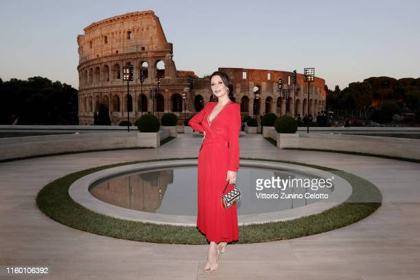 Catherine Zeta Jones attends the Cocktail at Fendi Couture Fall Winter 2019/2020 on July 04, 2019 in Rome, Italy.