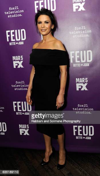 Catherine Zeta Jones attends the 'Feud' Tastemaker Dinner at The Monkey Bar on February 13 2017 in New York City