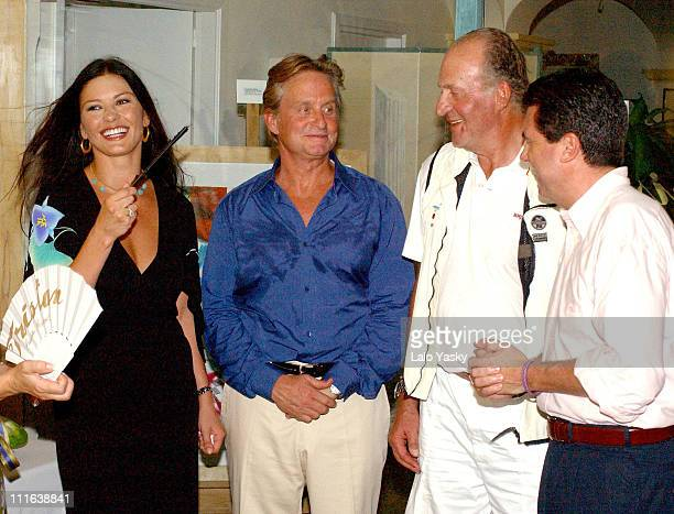 Catherine Zeta Jones, Michael Douglas, King Juan Carlos of Spain and guest