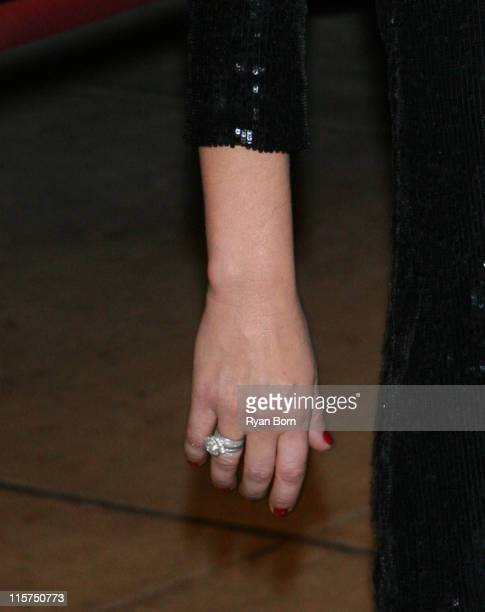 Catherine Zeta Jones' Ring during Glamour Magazine Honors The 2006 'Women of The Year' Outside Arrivals at Carnegie Hall in New York City New York...