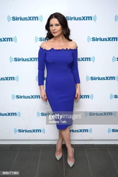 Catherine Zeta Jones visits SiriusXM at SiriusXM Studios on January 18 2018 in New York City
