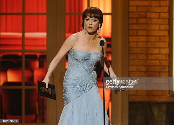 Catherine Zeta-Jones accepts her award onstage during the 64th Annual Tony Awards at Radio City Music Hall on June 13, 2010 in New York City.