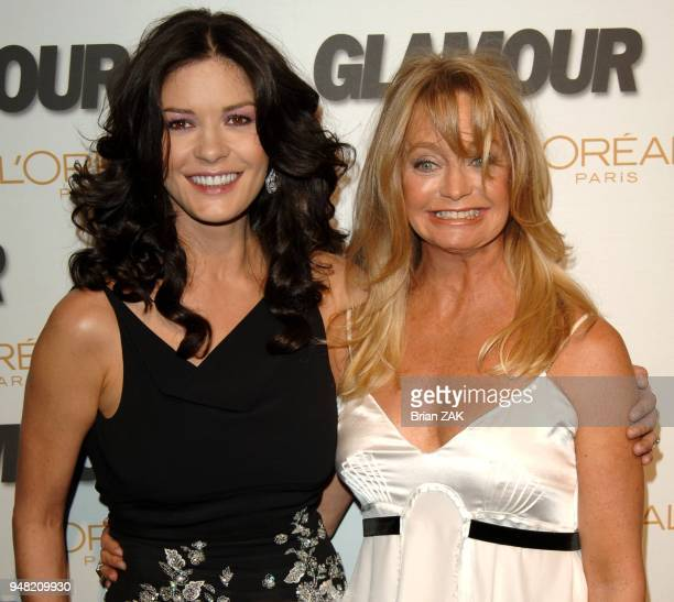 Catherine ZetaJones and Goldie Hawn arrive to the 2005 Glamour Magazine Women of the Year Awards ceremony held at Lincoln Center New York City BRIAN...