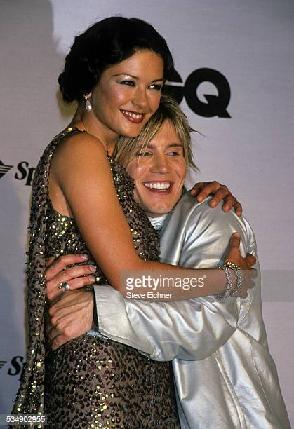 Catherine ZetaJones and John Rzeznik of Goo Goo Dolls at GQ Man of the Year New York October 21 1999