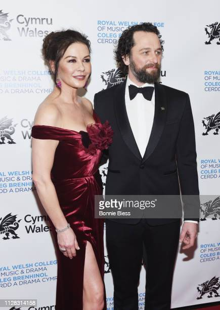 Catherine ZetaJones and Matthew Rhys attend The Royal Welsh College of Music Drama 2019 Gala at The Rainbow Room on March 1 2019 in New York City
