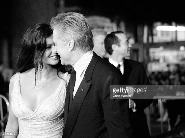 Catherine ZetaJones and Michael Douglas at the Grauman's Chinese Theater in Hollywood California