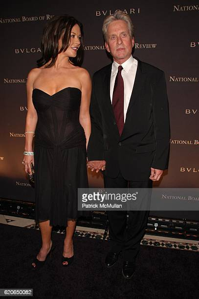 Catherine ZetaJones and Michael Douglas attend BVLGARI presents NATIONAL BOARD of REVIEW of MOTION PICTURES AWARDS Gala InsideArrivals at Cipriani...