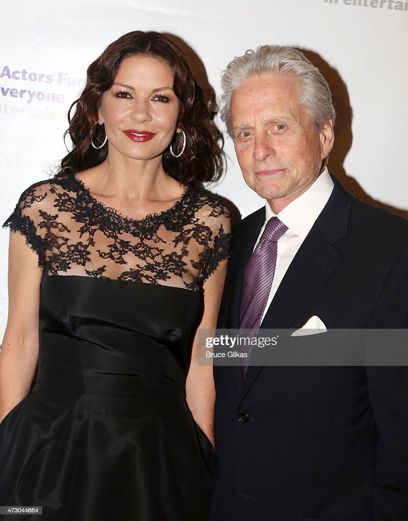Catherine Zeta-Jones and Michael Douglas attend The 2015 Actors Fund Gala at The New York Marriott Marquis on May 11, 2015 in New York City.