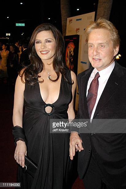 Catherine ZetaJones and Michael Douglas during Chicago Premiere at Academy of Motion Picture Arts Sciences in Los Angeles CA United States
