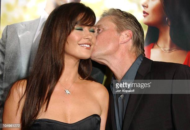 Catherine ZetaJones and Michael Douglas during 'Intolerable Cruelty' Los Angeles Premiere at The Academy of Motion Picture Arts and Sciences in...
