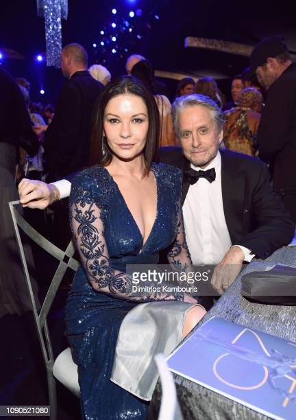 Catherine ZetaJones and Michael Douglas during the 25th Annual Screen Actors Guild Awards at The Shrine Auditorium on January 27 2019 in Los Angeles...