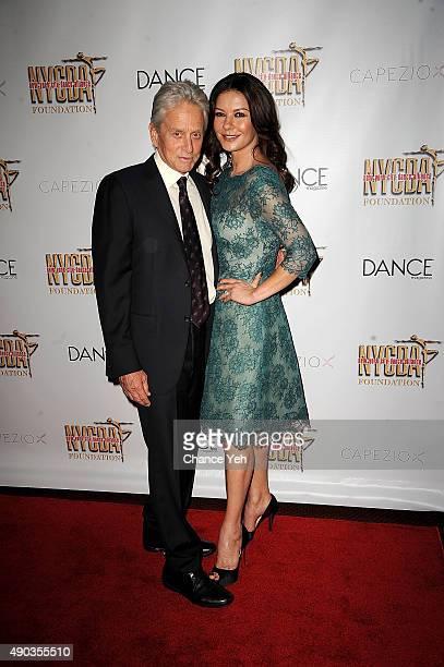 Catherine ZetaJones and Michael Douglasattend NYC Dance Alliance Foundation's 'Bright Lights Shining Stars' gala at NYU Skirball Center on September...