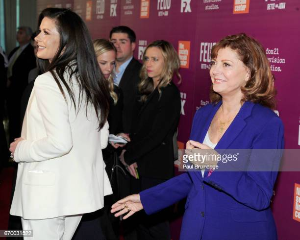 Catherine ZetaJones and Susan Sarandon attend the Latin History For Morons Opening Night Celebration at The Public Theater on March 27 2017 in New...