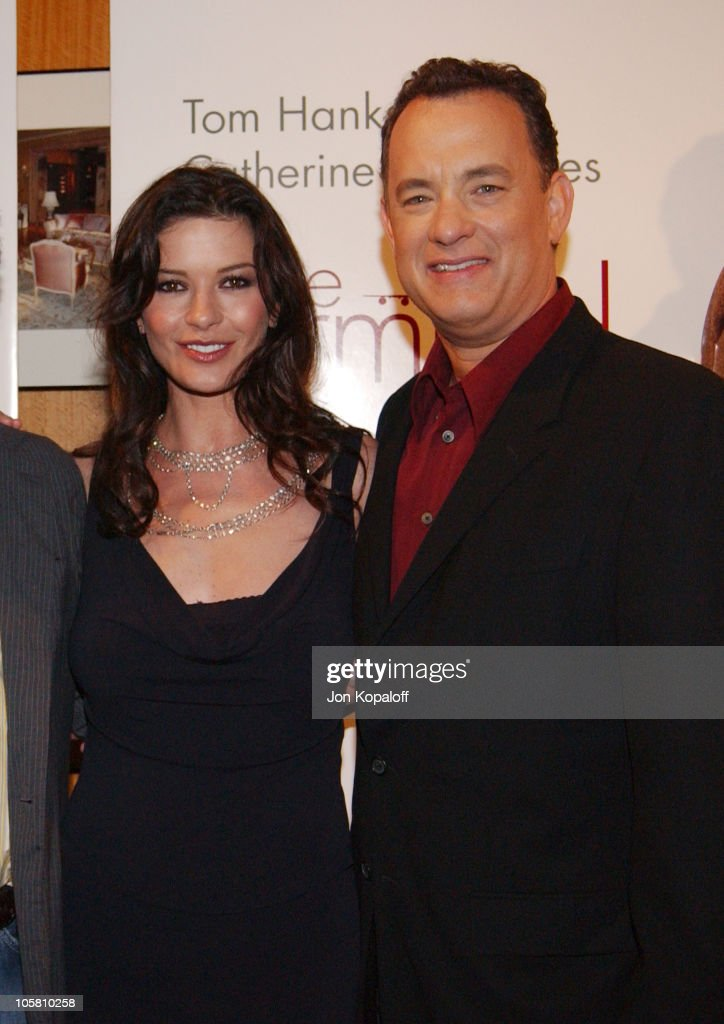 Catherine Zeta-Jones and Tom Hanks during 'The Terminal' World Premiere - Red Carpet at Academy of Motion Picture Arts and Science in Beverly Hills, California, United States.