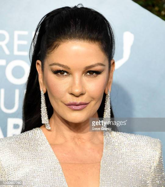 Catherine ZetaJones arrives at the 26th Annual Screen ActorsGuild Awards at The Shrine Auditorium on January 19 2020 in Los Angeles California