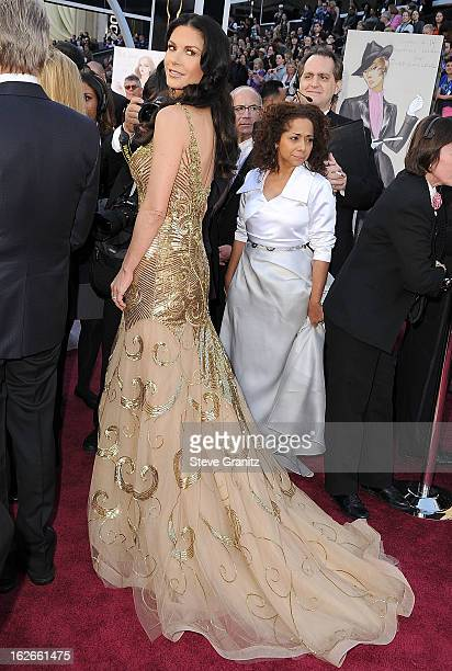 Catherine ZetaJones arrives at the 85th Annual Academy Awards at Dolby Theatre on February 24 2013 in Hollywood California