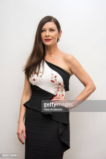 Catherine ZetaJones at the Cocaine Godmother Press Conference at the Four Seasons Hotel on January 13 2018 in Beverly Hills California