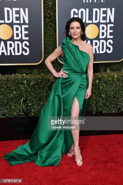 Catherine ZetaJones attend the 76th Annual Golden Globe Awards at The Beverly Hilton Hotel on January 6 2019 in Beverly Hills California