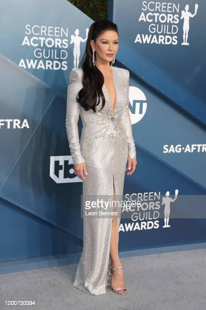 Catherine ZetaJones attends 26th Annual Screen Actors Guild Awards at The Shrine Auditorium on January 19 2020 in Los Angeles California