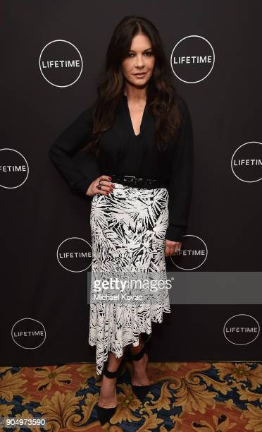 Catherine ZetaJones attends AE Networks' 2018 Winter Television Critics Association Press Tour at The Langham Huntington Hotel on January 14 2018 in...