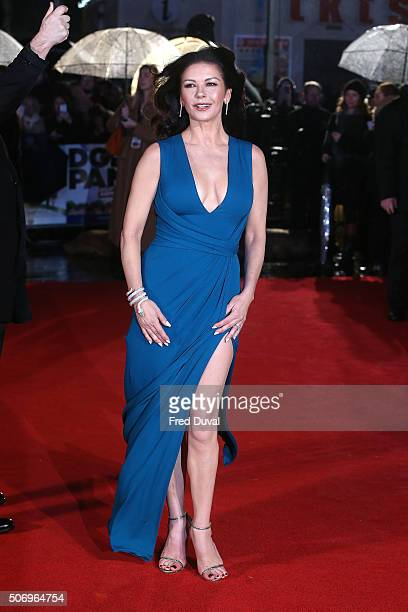 Catherine ZetaJones attends 'Dad's Army' World Premiere at the Odeon Leicester Square on January 26 2016 in London United Kingdom