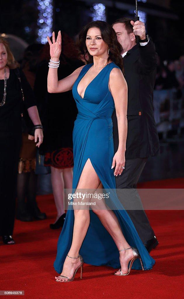 Catherine Zeta-Jones attends 'Dad's Army' World Premiere on January 26, 2016 in London, United Kingdom.