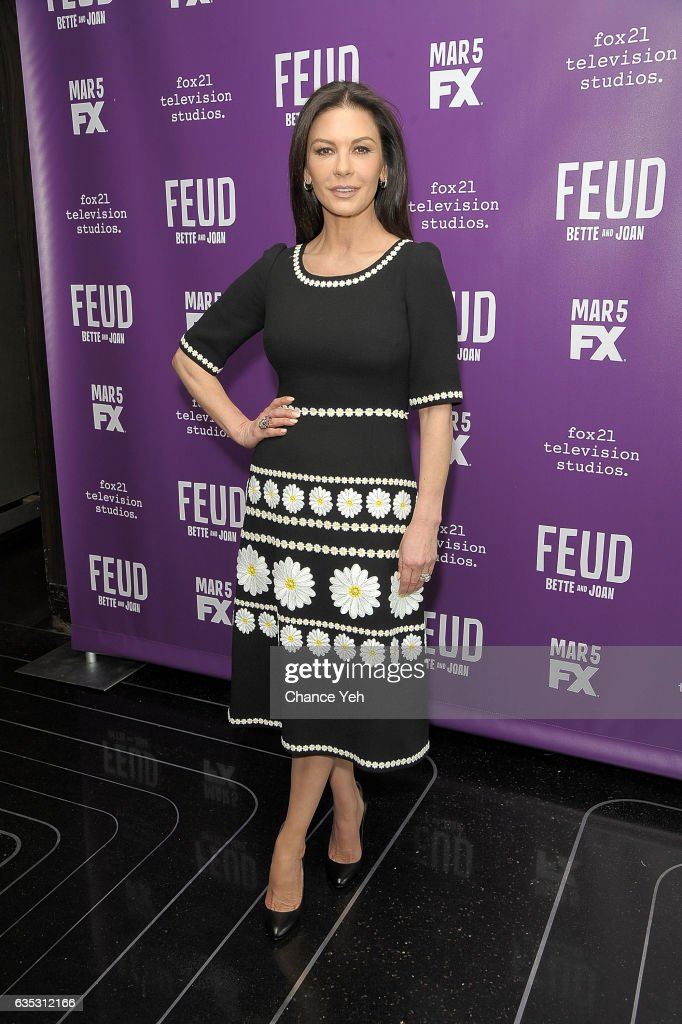 Catherine Zeta-Jones attends 'Feud' Tastemaker lunch at The Rainbow Room on February 14, 2017 in New York City.