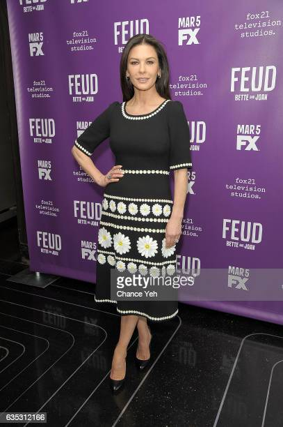 Catherine ZetaJones attends 'Feud' Tastemaker lunch at The Rainbow Room on February 14 2017 in New York City