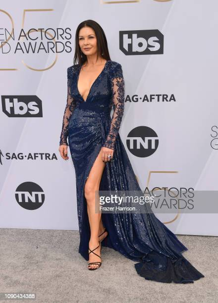 Catherine Zeta-Jones attends the 25th Annual Screen Actors Guild Awards at The Shrine Auditorium on January 27, 2019 in Los Angeles, California.