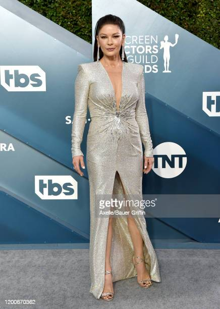 Catherine ZetaJones attends the 26th Annual Screen Actors Guild Awards at The Shrine Auditorium on January 19 2020 in Los Angeles California
