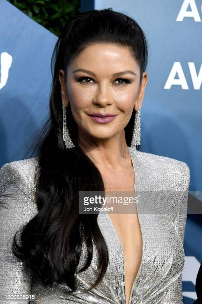 Catherine ZetaJones attends the 26th Annual Screen ActorsGuild Awards at The Shrine Auditorium on January 19 2020 in Los Angeles California