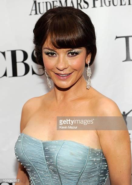 Catherine ZetaJones attends the 64th Annual Tony Awards at Radio City Music Hall on June 13 2010 in New York City