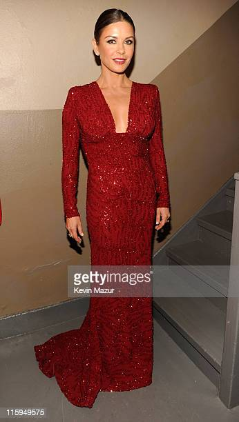 Catherine ZetaJones attends the 65th Annual Tony Awards at the Beacon Theatre on June 12 2011 in New York City