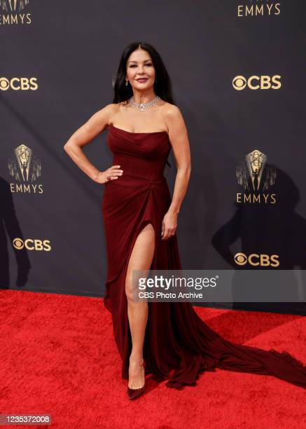 Catherine Zeta-Jones attends the 73RD EMMY AWARDS on Sunday, Sept. 19 on the CBS Television Network and available to stream live and on demand on...