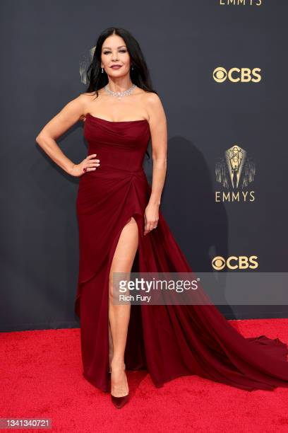 Catherine Zeta-Jones attends the 73rd Primetime Emmy Awards at L.A. LIVE on September 19, 2021 in Los Angeles, California.