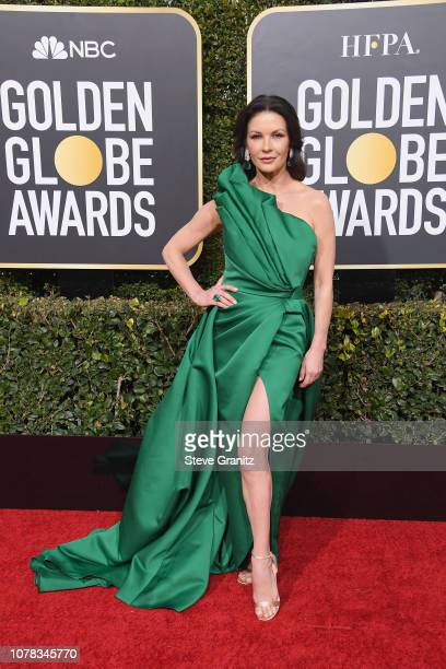 Catherine Zeta-Jones attends the 76th Annual Golden Globe Awards at The Beverly Hilton Hotel on January 6, 2019 in Beverly Hills, California.