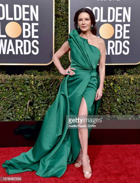 Catherine ZetaJones attends the 76th Annual Golden Globe Awards at The Beverly Hilton Hotel on January 6 2019 in Beverly Hills California