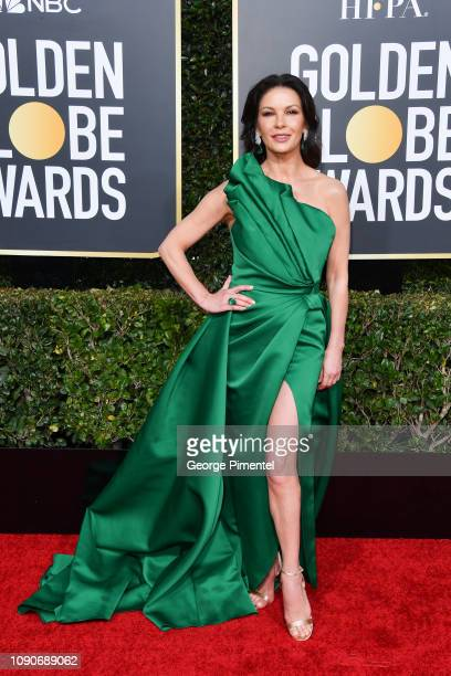 Catherine ZetaJones attends the 76th Annual Golden Globe Awards held at The Beverly Hilton Hotel on January 06 2019 in Beverly Hills California