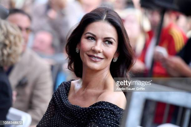 Catherine Zeta-Jones attends the ceremony honoring Michael Douglas with star on the Hollywood Walk of Fame on November 06, 2018 in Hollywood,...