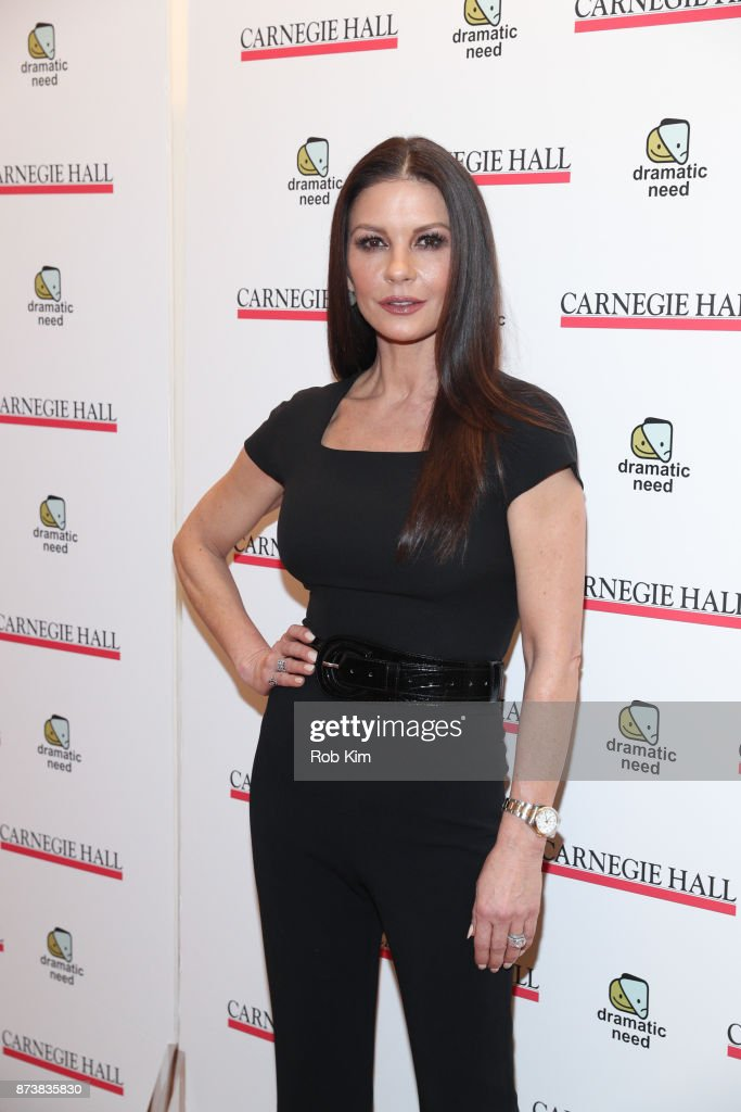 Catherine Zeta-Jones attends The Children's Monologues at Carnegie Hall on November 13, 2017 in New York City.