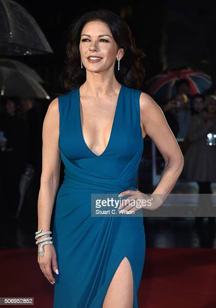 Catherine ZetaJones attends the 'Dad's Army' World Premiere at Odeon Leicester Square on January 26 2016 in London England