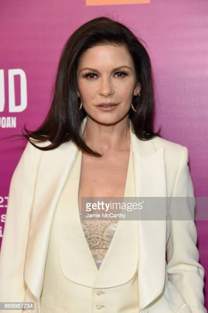 Catherine ZetaJones attends the Feud Bette And Joan NYC Event at Alice Tully Hall at Lincoln Center on April 18 2017 in New York City