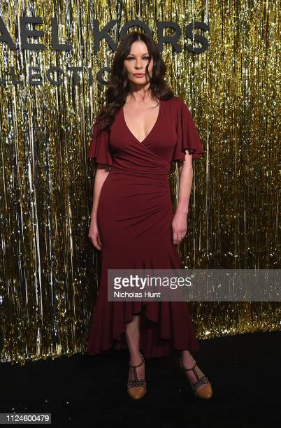 Catherine ZetaJones attends the Michael Kors Collection Fall 2019 Runway Show at Cipriani Wall Street on February 13 2019 in New York City