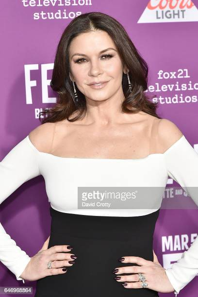Catherine ZetaJones attends the Premiere Of FX Network's Feud Bette And Joan Arrivals at Grauman's Chinese Theatre on March 1 2017 in Hollywood...