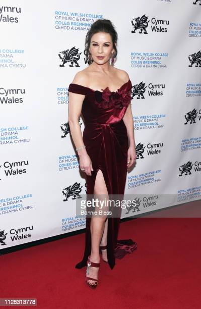 Catherine Zeta-Jones attends The Royal Welsh College of Music & Drama 2019 Gala at The Rainbow Room on March 1, 2019 in New York City.