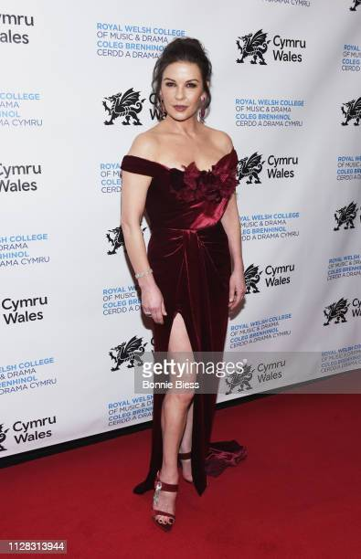 Catherine ZetaJones attends The Royal Welsh College of Music Drama 2019 Gala at The Rainbow Room on March 1 2019 in New York City