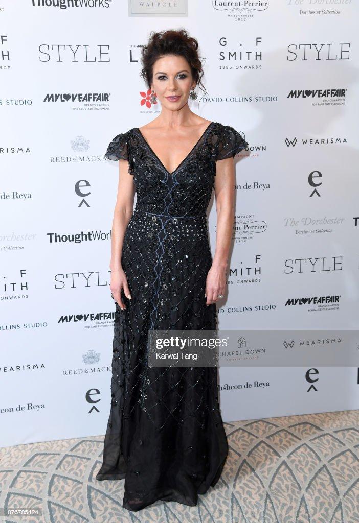 Catherine Zeta-Jones attends the Walpole British Luxury Awards at The Dorchester on November 20, 2017 in London, England.