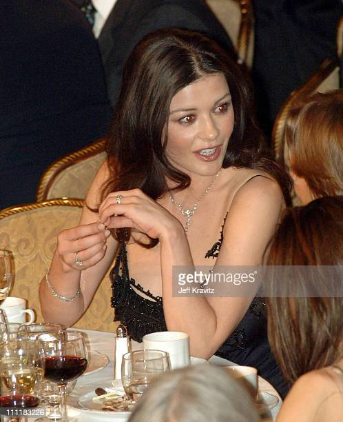 Catherine Zeta-Jones during 20th Annual Rock and Roll Hall of Fame Induction Ceremony - Audience and Backstage at Waldorf Astoria Hotel in New York...
