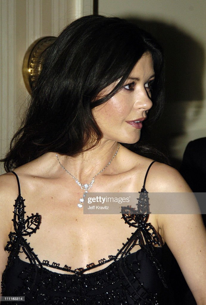 Catherine Zeta-Jones during 20th Annual Rock and Roll Hall of Fame Induction Ceremony - Audience and Backstage at Waldorf Astoria Hotel in New York City, New York, United States.