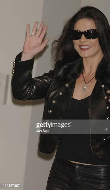 Catherine ZetaJones during Catherine ZetaJones's First Visit to Japan to Promote 'The Legend Of Zorro' at Narita International Airport in Narita Japan